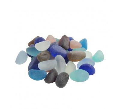 Камушки декоративные стеклянные 250г матовые JC-13881