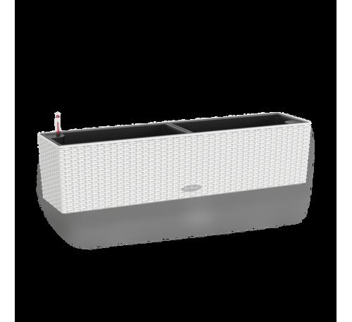 Кашпо Балконера Коттедж 80 Белое с системой полива