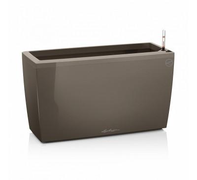 Кашпо Караро 75 Серо-коричневое с системой полива