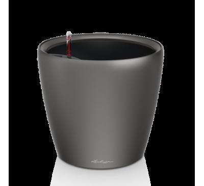 Кашпо Классико 28 LS Серебрянное с сист. полива и съемным горшком