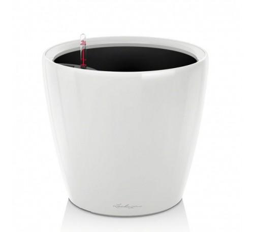 Кашпо Классико 35 LS Белое с системой полива и съемным горшком