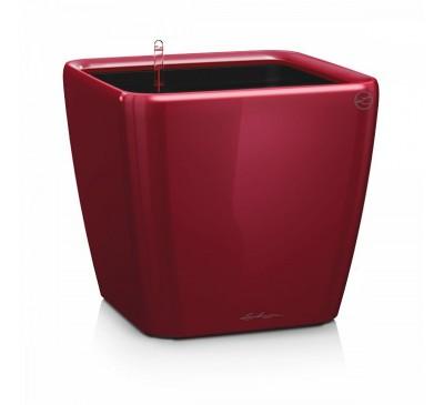 Кашпо Квадро 28 LS Красное с системой полива и съемным горшком