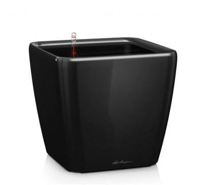 Кашпо Квадро 35 LS Черное с системой полива и съемным горшком
