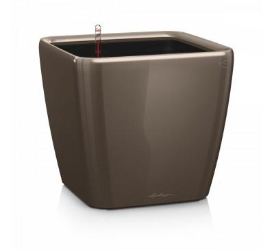Кашпо Квадро 35 LS Серо-Коричневое с системой полива и съемным горшком
