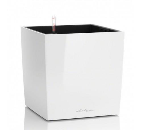 Кашпо Кьюб 30 Белое с системой полива