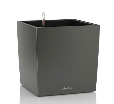 Кашпо Кьюб 40 Антрацитовый металлик с системой полива