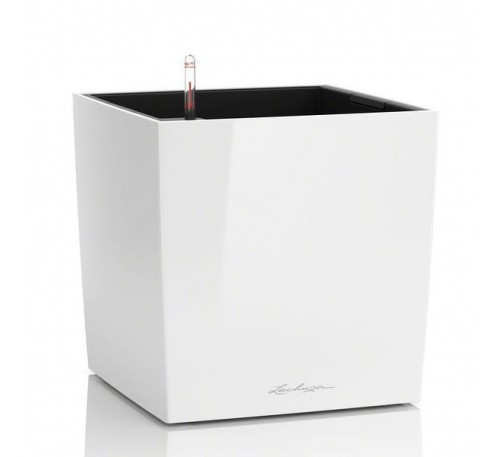 Кашпо Кьюб Колор 16 Белый с системой полива