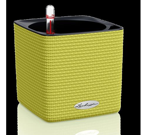 Кашпо Кьюб Колор 16 Зеленый Лайм с системой полива