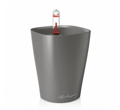 Кашпо Мини-Дельтини Антрацит с системой полива