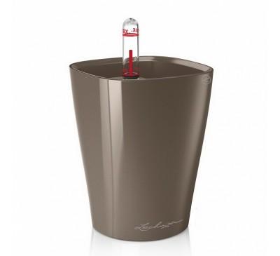 Кашпо Мини-Дельтини Серо-коричневое с системой полива