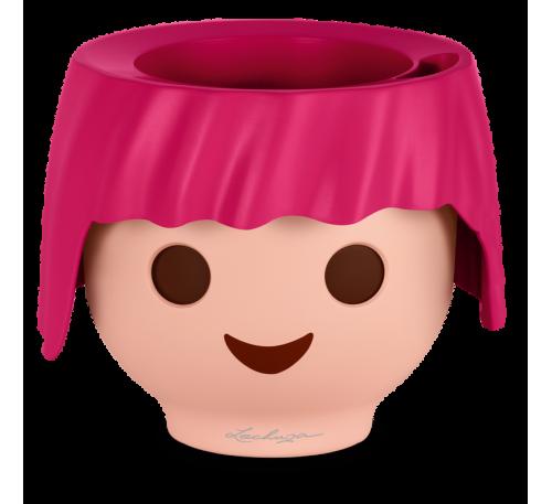 Кашпо Охо с автополивом, розовый, D21cm, H16cm