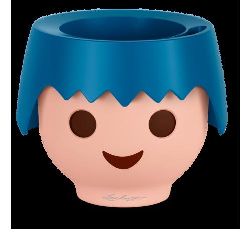 Кашпо Охо с автополивом, синий, D21cm, H16cm