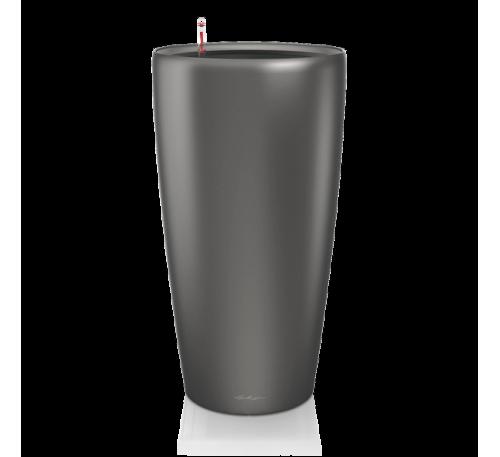 Кашпо Рондо 32 Антрацит с системой полива