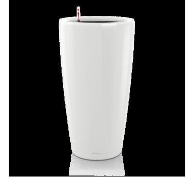 Кашпо Рондо 32 Белое с системой полива