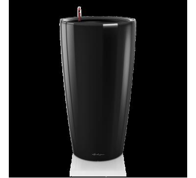 Кашпо Рондо 32 Черное с системой полива