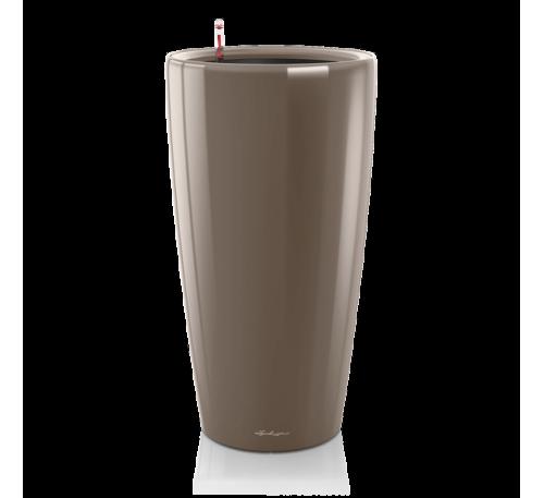 Кашпо Рондо 32 Серо-коричневое с системой полива