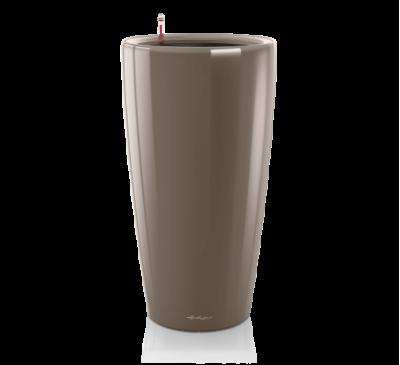 Кашпо Рондо 40 Серо-Коричневое с системой полива