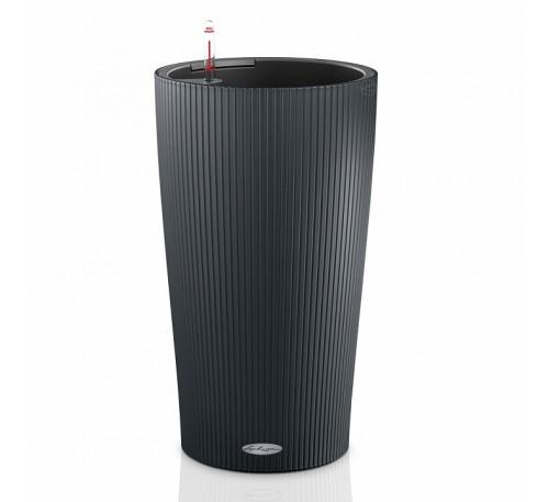 Кашпо Цилиндро Колор 23 серый с системой полива