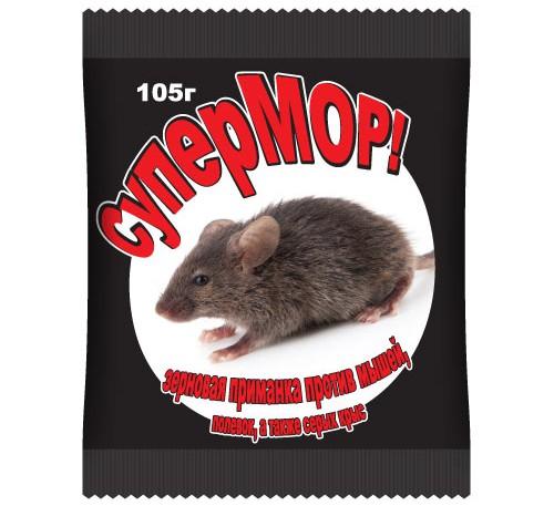 Мыши СуперМОР зерно 105гр.(15 доз по 7гр)