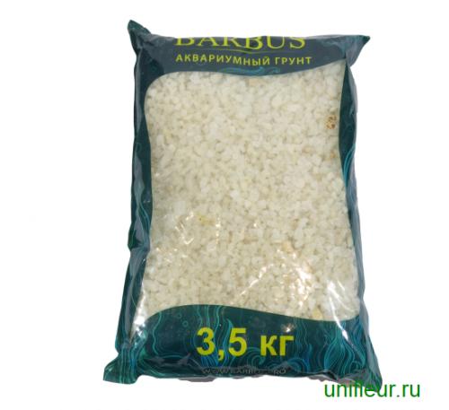 Песок GRAVEL025 кварц 5-10мм 3,5кг белая мраморная