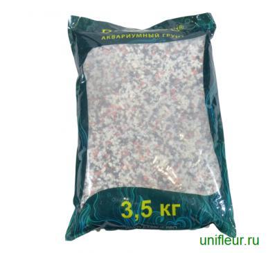 Песок GRAVEL028 кварц 2-5мм 3,5кг Микс красно-черно-белый
