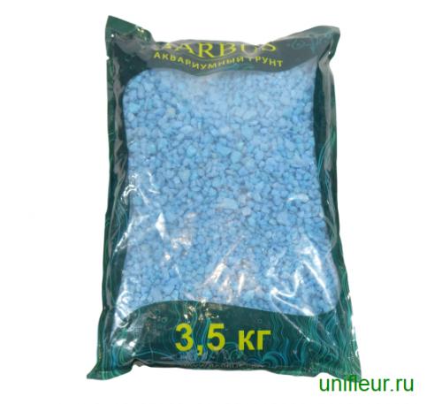 Песок GRAVEL035 кварц 5-10мм 3,5кг Голубой